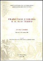Immagine di Francesco Ferrara e il suo tempo. Atti del Congresso (Palermo 27-30 ottobre1988)