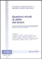 Immagine di Questioni attuali di diritto del lavoro