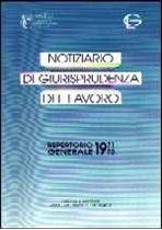 """Immagine di Repertorio Generale del """"Notiziario di giurisprudenza del lavoro"""" (1971-1995)"""