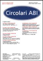 Immagine di Circolari ABI n. 33 - 34 del 25 settembre 2006