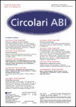 Immagine di Circolari ABI n. 15 del 23 aprile 2007