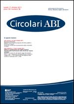 Immagine di Circolari ABI n. 38 del 17 ottobre 2011