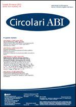 Immagine di Circolari ABI n. 10 del 19 marzo 2012