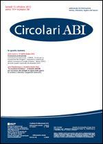 Immagine di Circolari ABI n. 38 del 15 ottobre 2012