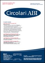 Immagine di Circolari ABI n. 44 del 26 novembre 2012