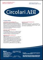 Immagine di Circolari ABI n. 34 del 23 settembre 2013