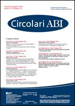 Immagine di Circolari ABI n. 25 del 30 giugno 2014