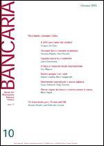 Immagine di Bancaria n. 10/2015
