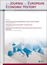 Immagine di Journal of European Economic History - 2014 issue 3
