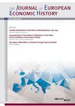 Immagine di The Journal of European Economic History - 2016 issue 3