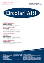Immagine di Circolari ABI n.1-2 del 22 gennaio 2018