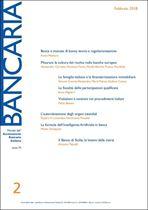 Immagine di Bancaria n. 2/2018