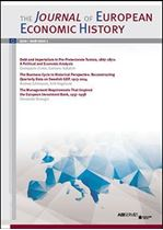 Immagine di Journal of European Economic History - 2018 issue 1