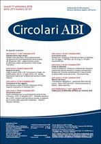 Immagine di Circolari ABI n. 32-33 del 17 settembre 2018