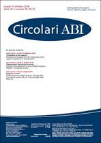 Immagine di Circolari ABI n. 35-36-37 del 15 ottobre 2018