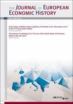 Immagine di Journal of European Economic History - 2018 issue 3