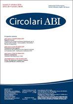 Immagine di Circolari ABI n. 38-39 del 21 ottobre 2019
