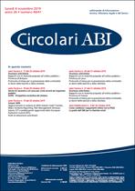 Immagine di Circolari ABI n. 40-41 del 4 novembre 2019
