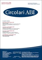 Immagine di Circolari ABI n. 9 del 9 marzo 2020