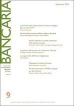 Immagine di Bancaria n. 9/2020