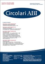 Immagine di Circolari ABI n. 48-49 del 21 dicembre 2020