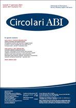Immagine di Circolari ABI n. 1-2 dell'11 gennaio 2021
